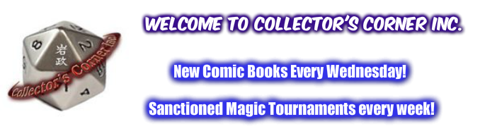 Welcome to Collector's Corner Inc at MIComicsAndGames.com